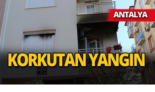 Antalya'da ev yangını!