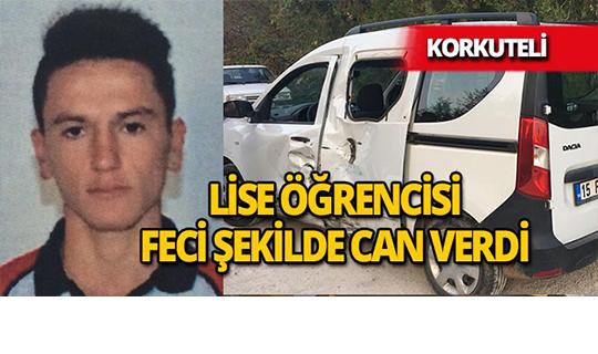 Antalya'da lise öğrencisinin dehşet verici ölümü