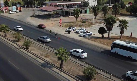 Antalya trafiğine drone ile denetim