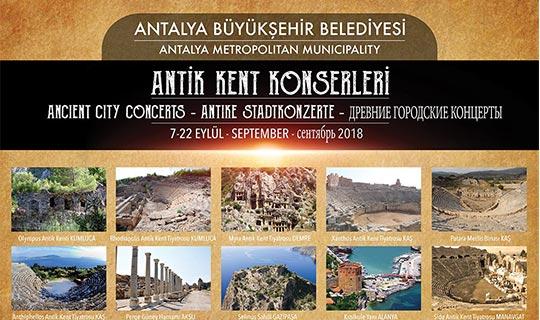 Antalya'da antik kent konserleri başlıyor