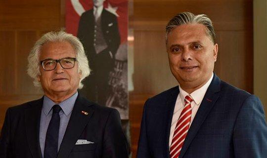 Başkan Uysal'dan ANSİAD Başkanı Kan'a ziyaret