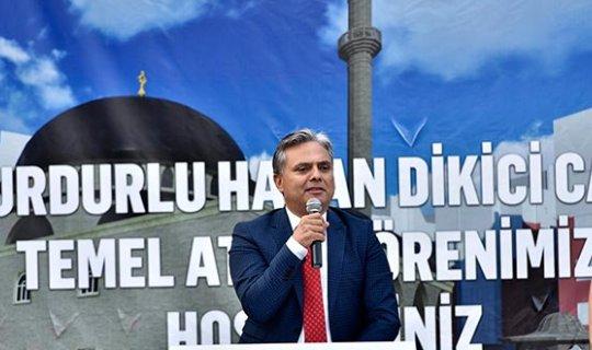 Burdurlu Hasan Dikici Camii'nin temeli atıldı
