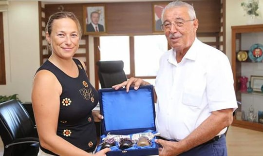 CMAS Başkanı Arzhanova'dan, Başkan Kocaer'e ziyaret