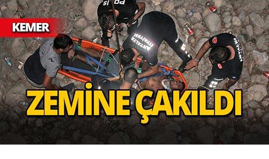 Kemer'de talihsiz kaza