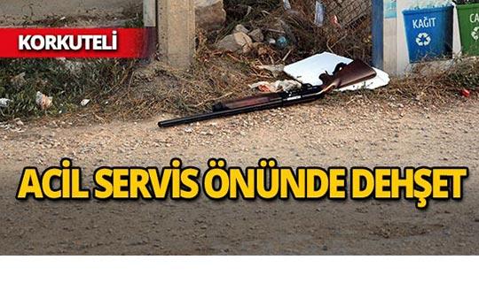 Korkuteli'de hastane önünde dehşeti yaşattı