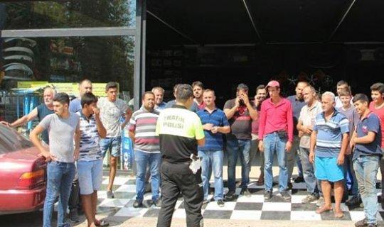 Kumluca polisi esnafı uyardı
