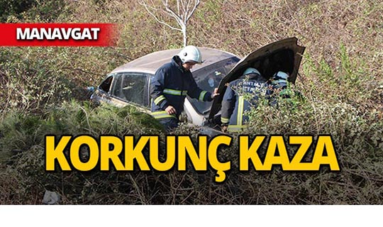 Manavgat'ta feci kaza : Sürücü yaralandı