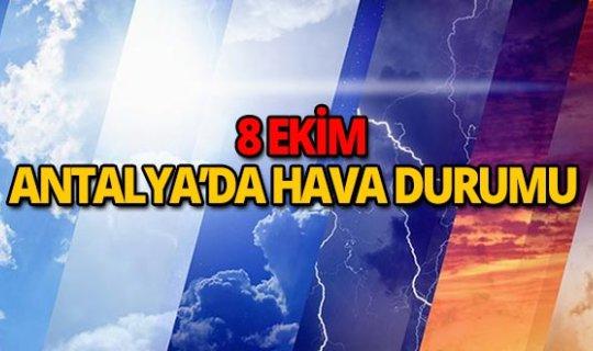 8 Ekim 2018 Antalya hava durumu