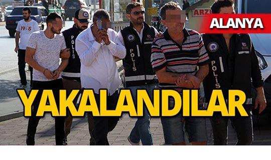 Alanya'da operasyon : 2 tutuklama!