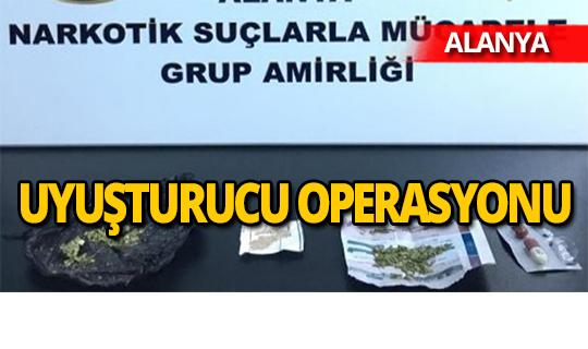 Alanya'da uyuşturucu operasyonunda 3 kişi gözaltına alındı