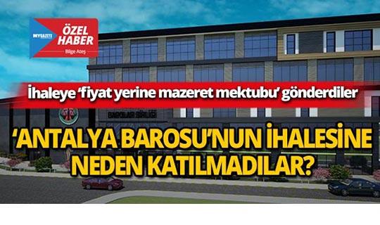 Antalya Barosu yönetiminde şok!