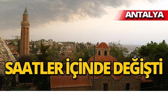 Antalya'da 20 saat içinde iki farklı görüntü!