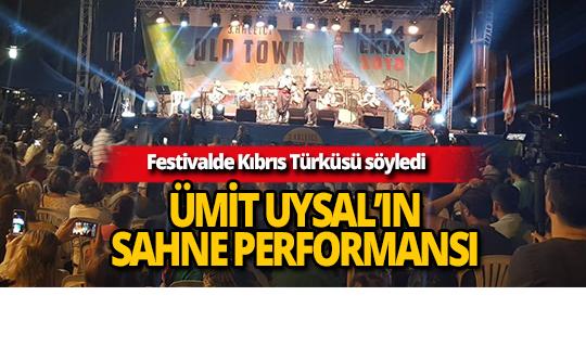Başkan Ümit Uysal festivalde Kıbrıs Türküsü söyledi