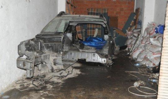 Çalınan otomobil yakılmış halde bulundu