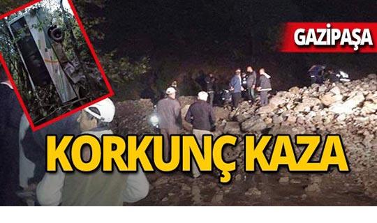 Gazipaşa'da korkunç kaza : Feci şekilde can verdi!