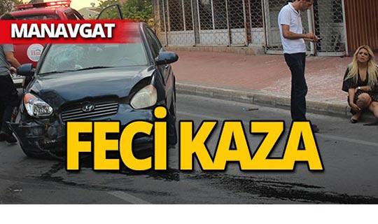 Manavgat'ta feci kaza : Palmiyeye çarptı!