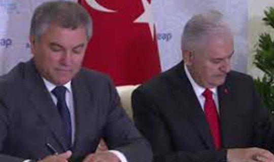 Yıldırım, Rusya Federasyonu Federal Meclisi Devlet Duması Başkanı ile görüştü