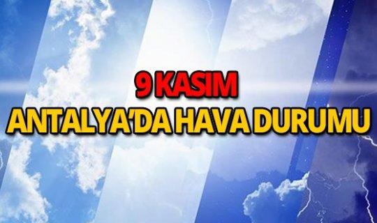 9 Kasım 2018 Antalya hava durumu