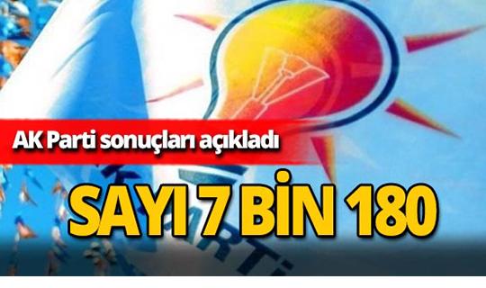 AK Parti sonuçları açıkladı!