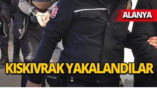 Alanya'da operasyon : 4 gözaltı!