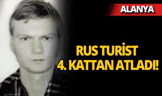 Alanya'da yaşayan Rus 4'üncü kattan atladı