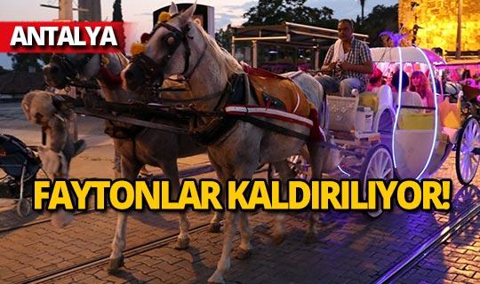 Antalya'da artık fayton yok!