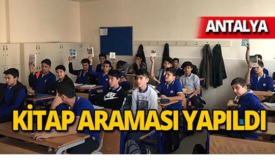 Antalya'da okulda telefon ve sigara değil okuma kitabı aradılar!