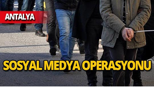 Antalya'da operasyon : 9 gözaltı!