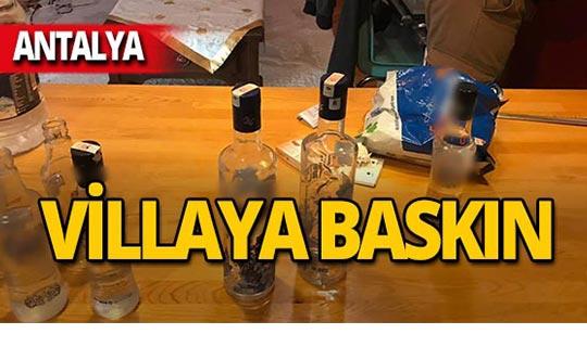 Antalya'da villaya baskın!