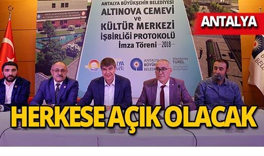 Antalya'da cemevi protokolü imzalandı