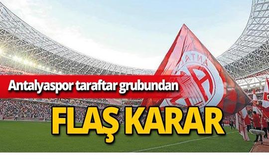 Antalyaspor taraftar grubundan flaş karar!