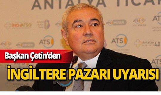 ATSO Başkanı Çetin'den önemli uyarı