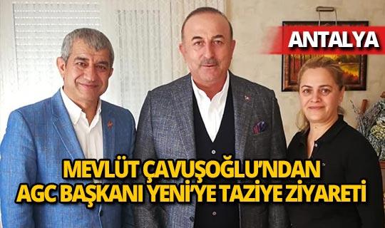 Bakan Çavuşoğlu'ndan Mevlüt Yeni'ye taziye ziyareti