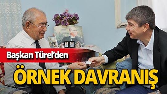 Başkan Türel Gazi Akkuş'u unutmadı