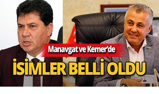 CHP'nin Manavgat ve Kemer adayları belli oldu!