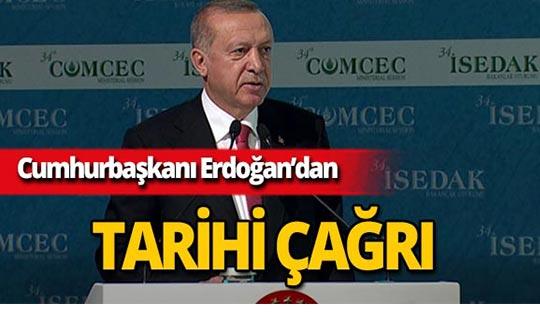 Cumhurbaşkanı Erdoğan'dan önemli çağrı!