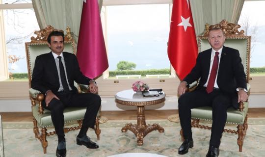 Cumhurbaşkanı Erdoğan ve Katar Emiri Al Sani ile bir araya geldi