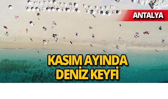 Dünyaca ünlü Kaputaş plajında yaz bitmedi