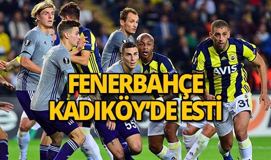 Fenerbahçe Kadıköy'de 2 golle kazandı!