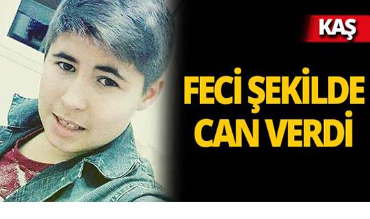 Kaş'ta 17 yaşındaki gencin acı ölümü!