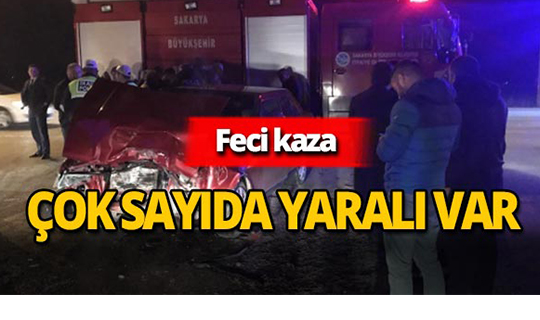 Korkunç kaza : Kafa kafaya çarpıştılar!