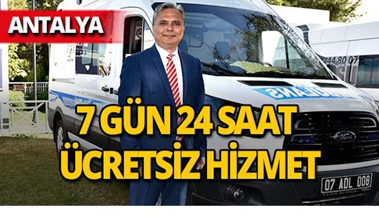 Muratpaşa'ya yeni ambulans