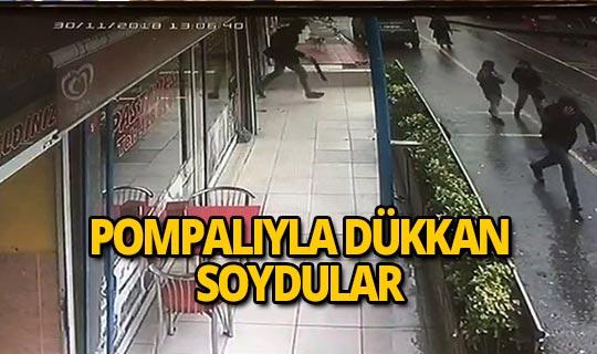 Pompalı tüfekle kuyumcu soygunu