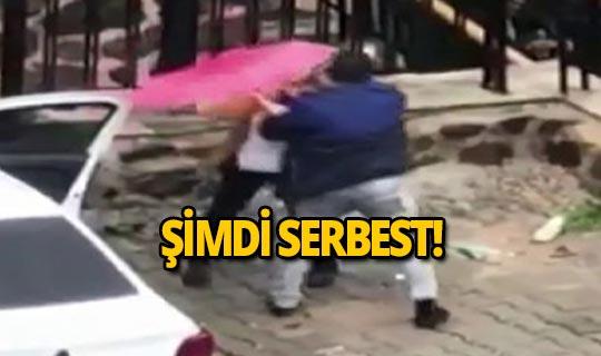 Sokak ortasında kadını acımasızca dövdü!