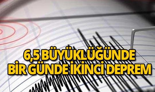 6,5 büyüklüğünde deprem meydana geldi