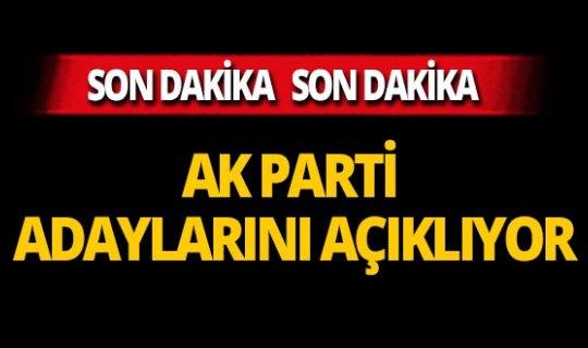 AK Parti o ildeki adaylarını açıklıyor
