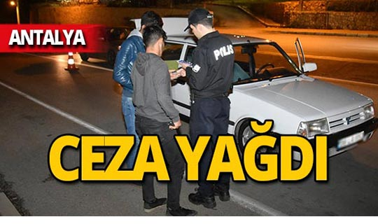 Antalya'da 8 bin 643 lira ceza!