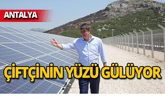 Antalya'da çiftçiye elektrik bedava!