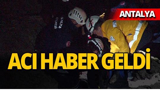 Antalya'da falezlerden düşen genç adamdan acı haber!