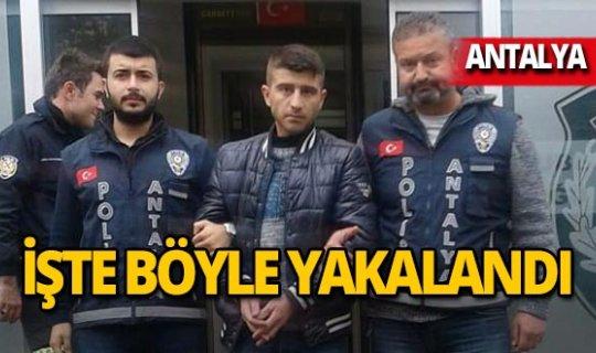 Antalya'da 'hastane hırsızı' yakalandı!